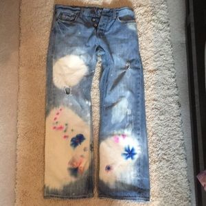 👖 Upcycled Hand Dyed Hippie-Chic Jeans